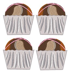 Muffins embroidery design