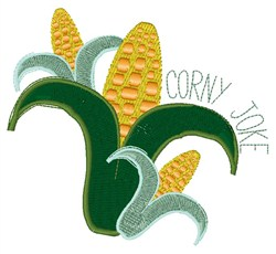 Corny Joke embroidery design
