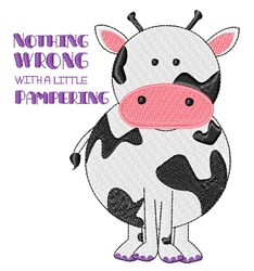 Pampered Cow embroidery design