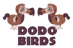 Dodo Birds embroidery design