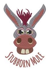 Stubborn Mule embroidery design