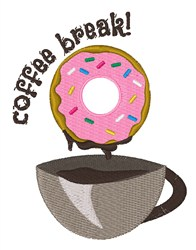 Coffee Break embroidery design