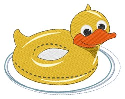 Duck Pool Toy embroidery design