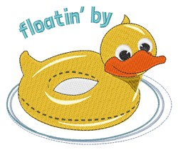 Floatin By embroidery design