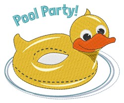 Pool Party embroidery design
