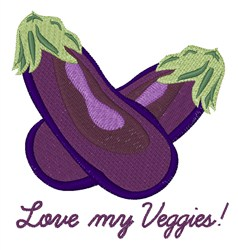 Love My Veggies embroidery design