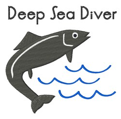 Deep Sea Diver embroidery design