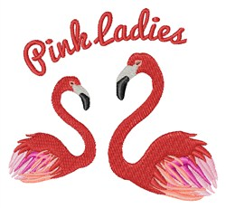 Pink Ladies embroidery design