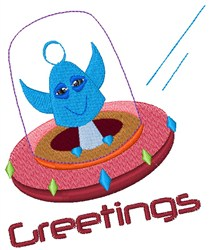 Greetings embroidery design