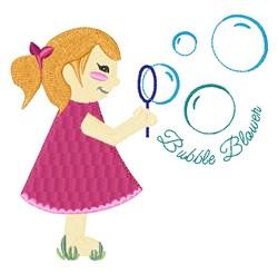 Bubble Blower embroidery design