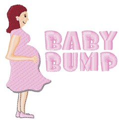 Baby Bump embroidery design
