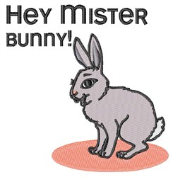 Mister Bunny embroidery design