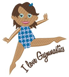 I Love Gymnastics embroidery design