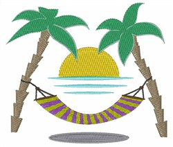Beach Hammock embroidery design