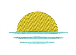 Sun Rise embroidery design