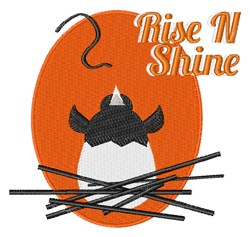 Rise N Shine embroidery design
