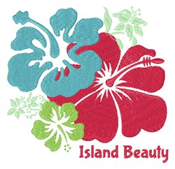 Island Beauty embroidery design