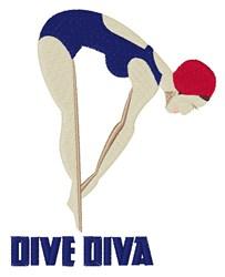 Dive Diva embroidery design