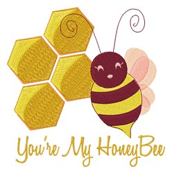 My Honey Bee embroidery design