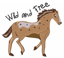 Wild & Free embroidery design