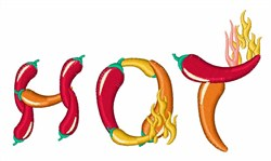Hot Peppers embroidery design