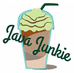 Java Junkie embroidery design