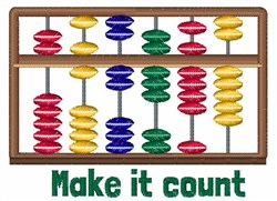 Make It Count embroidery design