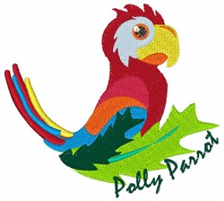 Polly Parrot embroidery design