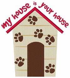 My House Your House embroidery design