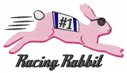 Racing Rabbit embroidery design