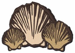 Seashells embroidery design