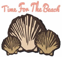 Time For The Beach embroidery design
