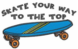 Skate Your Way embroidery design