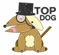 Top Dog embroidery design