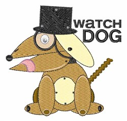 Watch Dog embroidery design