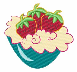 Strawberries And Cream embroidery design