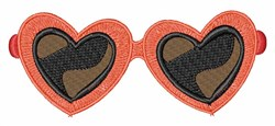 Heart Sunglasses embroidery design