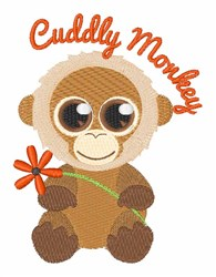 Cuddly Monkey embroidery design