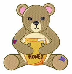 Honey Bear embroidery design