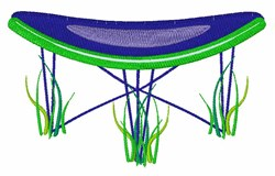 Trampoline embroidery design
