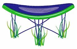 Trampoline embroidery design