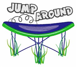 Jump Around embroidery design
