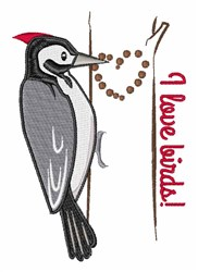 I Love Birds embroidery design