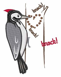 Woodpecker embroidery design