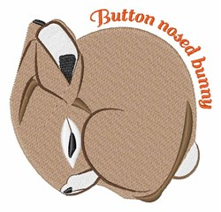 Button Nosed Bunny embroidery design