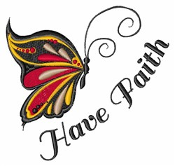 Have Faith embroidery design