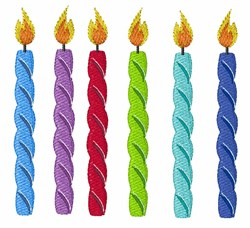 Birthday Candles embroidery design