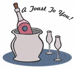 Toast To You embroidery design