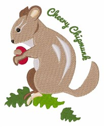 Cheery Chipmunk embroidery design
