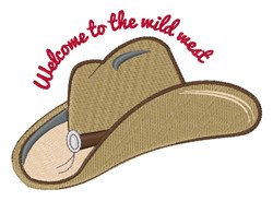 The Wild West embroidery design